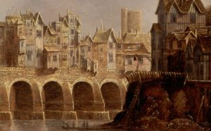 London Bridge by Claude de Jongh