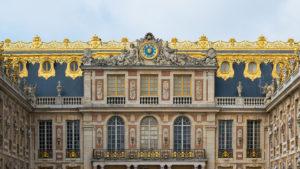 [insert photo: Versailles, detail from Cour de Marbre. DXR / Daniel Vorndran, CC BY-SA 3.0, via Wikimedia Commons]
